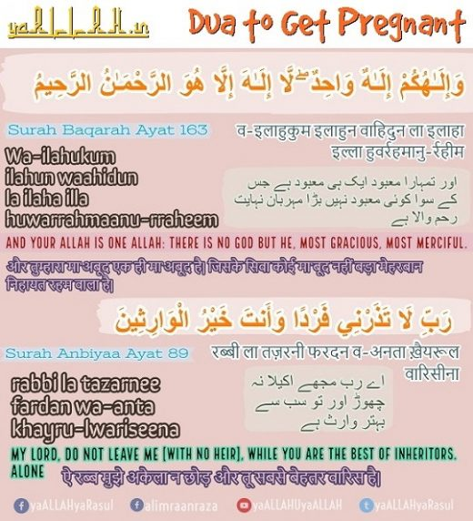 Dua to Get Pregnant fast