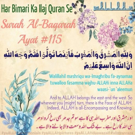 surah baqara ayat 115 with urdu translation