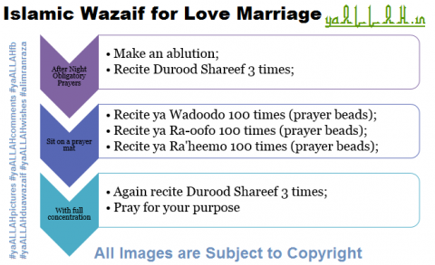 Islamic Wazaif for Love Marriage- yaALLAH.in