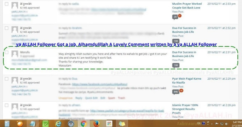 yaALLAHtestimonials for job-yaALLAH.in