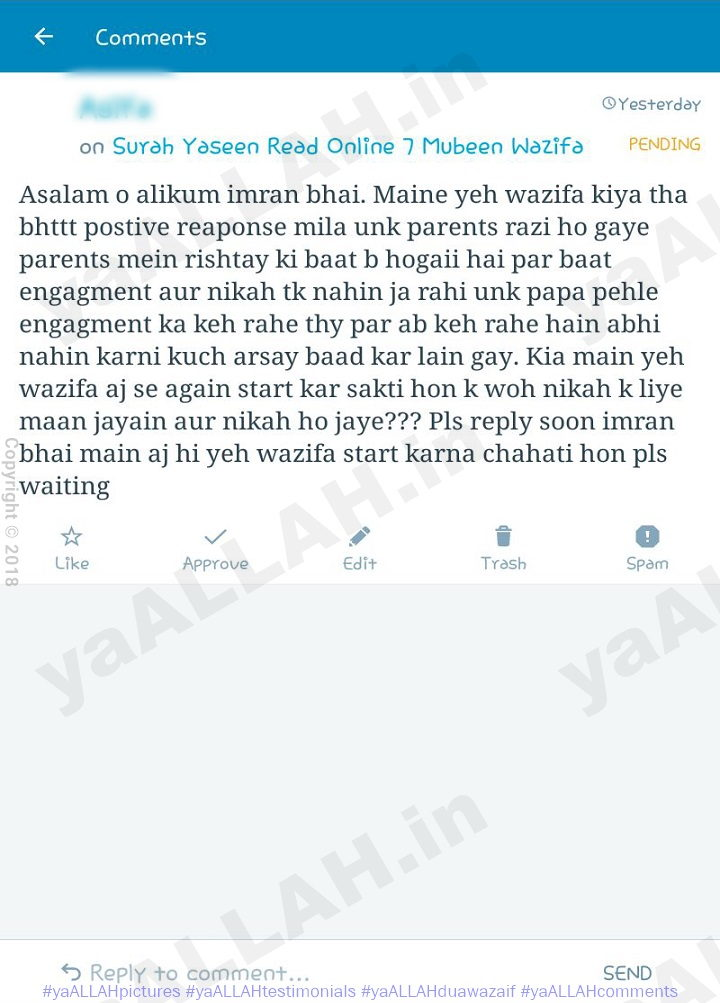 Strong Wazifa for Love-Testimonial on ya ALLAH Website-5