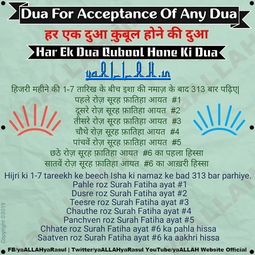 Powerful Dua For Acceptance of Any Dua