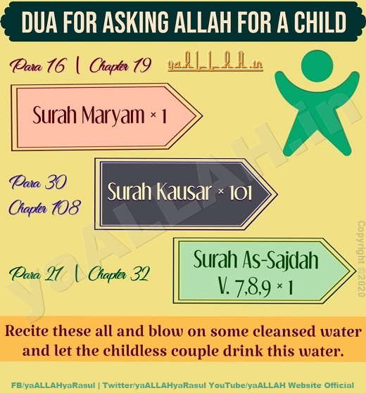 Dua For Asking ALLAH For A Child